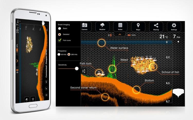 Deeper Sonar Fish Finder - Smart Phone