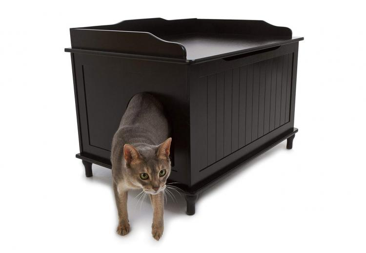 Designer Cat Litter Box Side Table Kitty Litter Hider