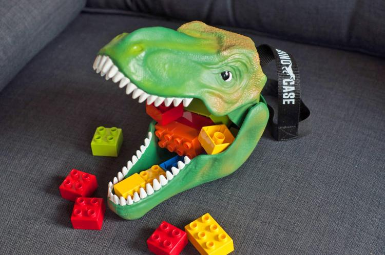 Dinosaur Head Lunch Box - T-Rex Dinosaur Head Carrying Case - Dinosaur toy carrying case
