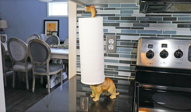 Dinosaur Paper Towel Holder - Brontosaurus Toilet Paper Holder