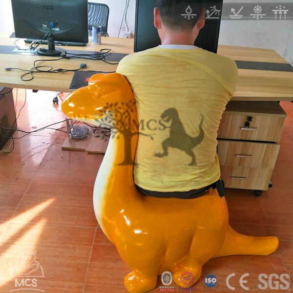 Dinosaur Shaped Office Chairs - Long neck Brachiosaurus dino computer desk chairs