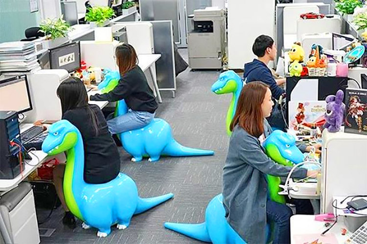 These Quirky Dinosaur Shaped Office Chairs Are The New Exercise Ball Replacement
