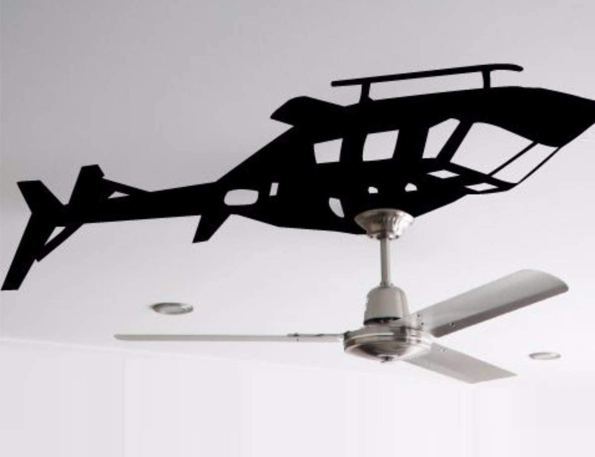 upside-down helicopter ceiling fan decal - DIY Helicopter ceiling fan