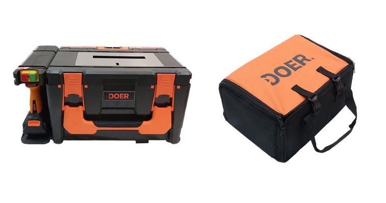 DOER 12-in-1 portable modular toolbox - all-in-one toolshed power tool set