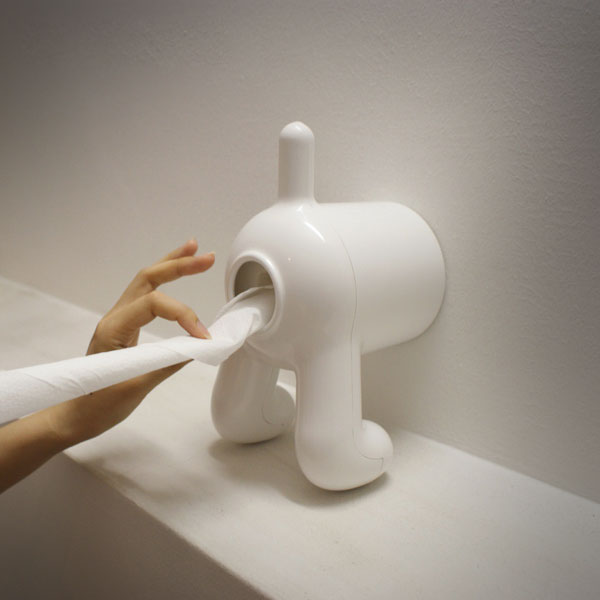 Dog butt toilet paper holder Funny toilet paper holders