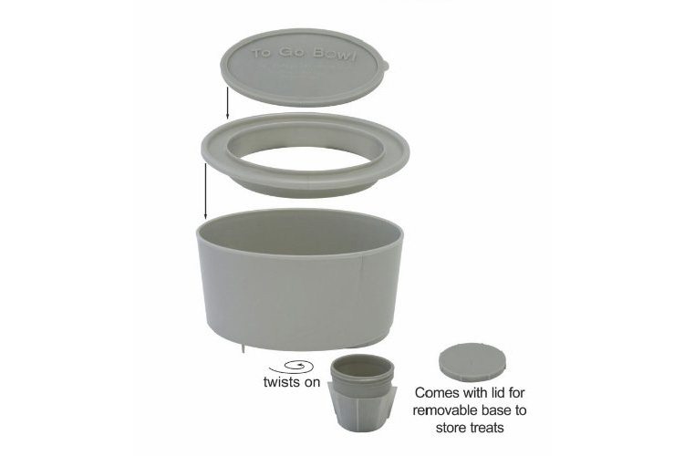 To Go Bowl - Travel Car Water Bowl For Dogs - Fits Into Cars Cupholder