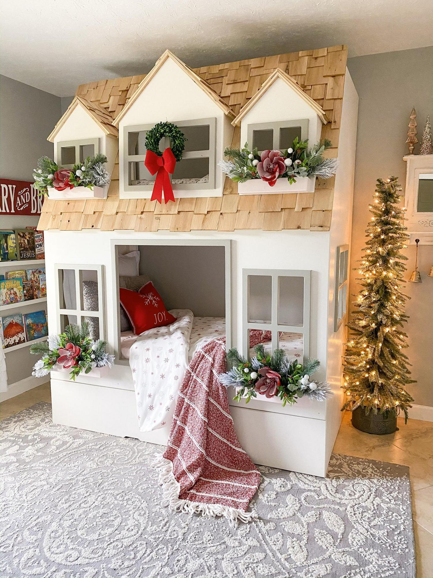 Giant doll house bunk bed - Country Cottage Bunk Bed