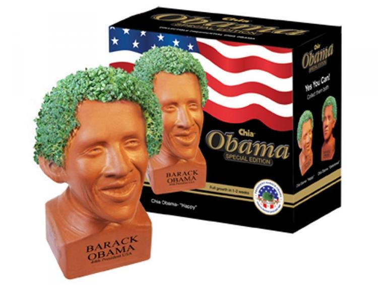 Barack Obama Chia Pet - Political Chia Pets