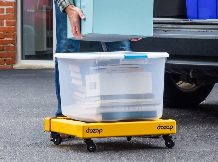 Dozap Collapsible Dolly Cart - Folding portable dolly helps move heavy objects