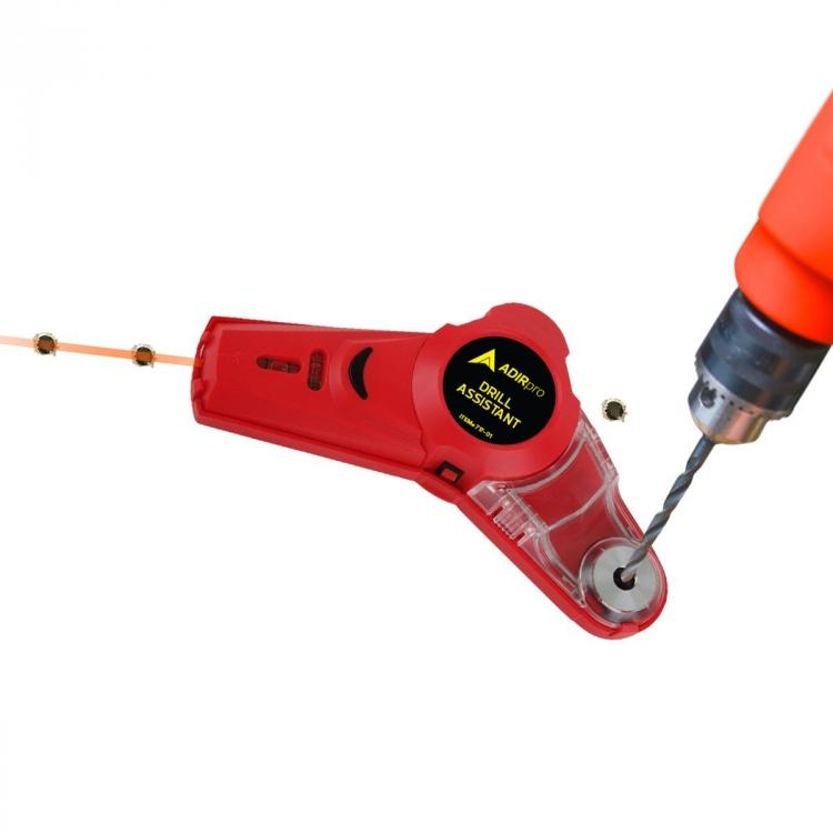 Drill Buddy - Drilling Dust and Debris Vacuum, Laser Leveler, and Bubble Vial Tool