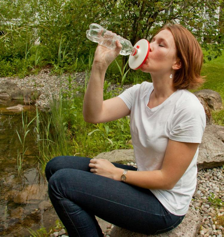 DrinkPure Water Filter - Water Filtration screws onto any plastic bottle