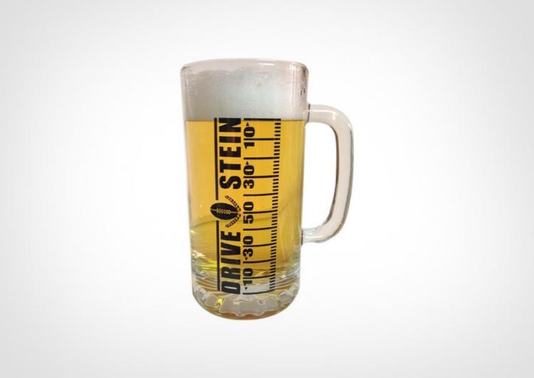 Drive Stein Football Drinking Mug - Track Your Progress With The Game