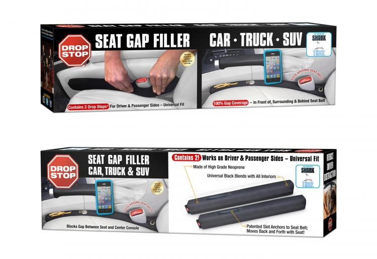 Drop Stop - Car Seat Gap Filler - Prevents Things Dropping In Your Cars Seat Crack