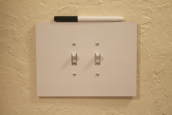 Dry Erase Board Light Switches