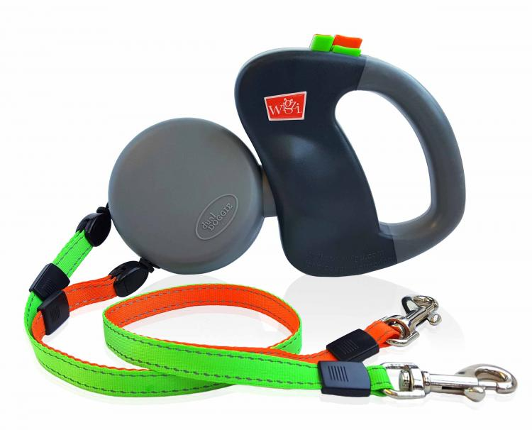 Dual Doggie Retractable Dog Leash - Dual dog leash walk two dogs at same time with no tangling - Double retractable dog leash