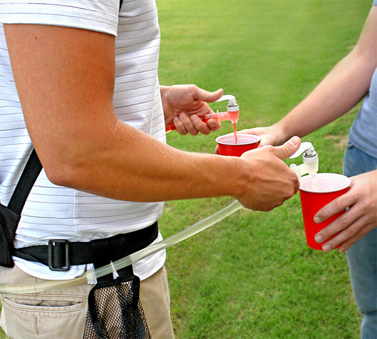 Dual Tank Tailgating Drink Dispenser Backpack