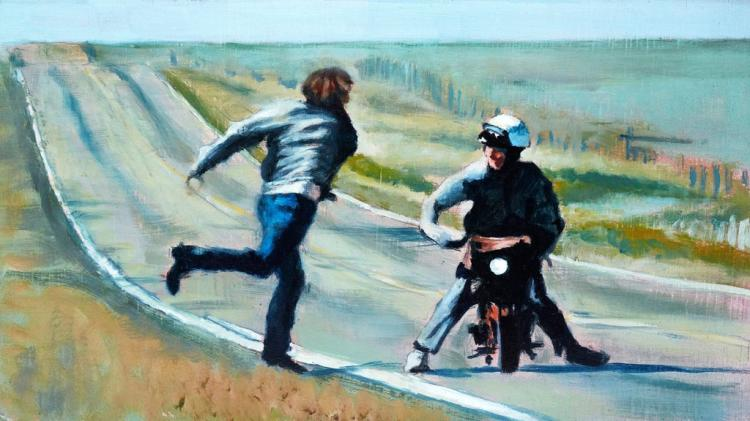 Dumb and Dumber High-Five Moped Scene Art Poster