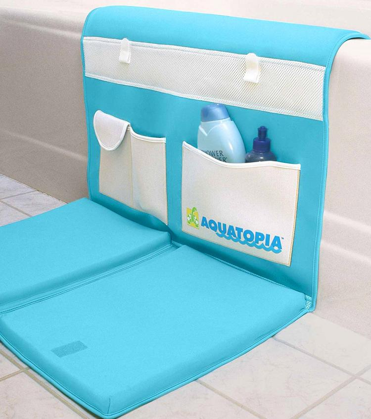 Aquatopia Easy Bath Kneeler - Padded bath-time floor mat - easy on the knees bath mat while bathing kids or dogs