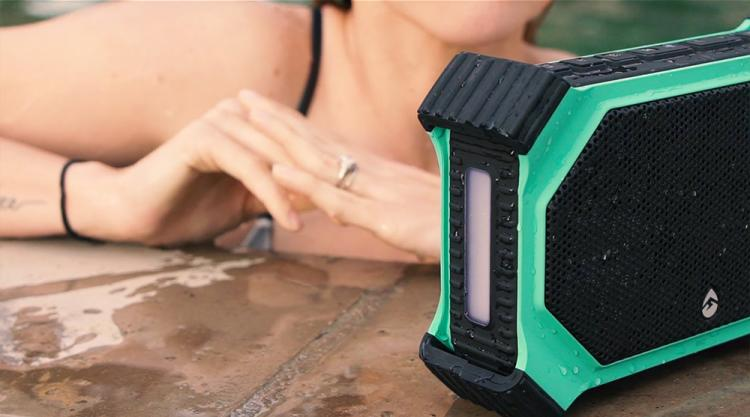 ECOXGEAR EcoSlate Rugged Outdoor Waterproof Bluetooth Speaker - Best Pool speaker - Beach speaker - Weatherproof Bluetooth Speaker