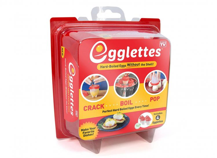Egglettes Easy Hard Boiled Egg Maker - Make hard boiled eggs without peeling the egg shell