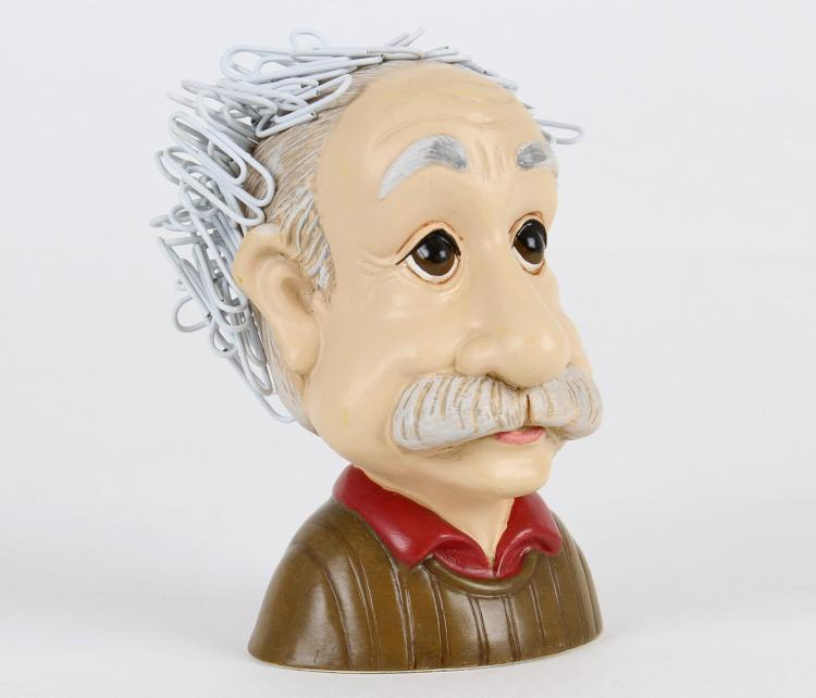 Einstein Crazy Hair Paperclip Holder