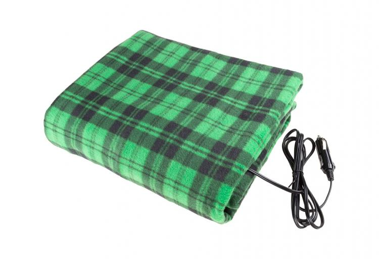 Electric Heated Driving Blanket Plugs Into Your Cars Outlet - Cigarette lighter heated blanket