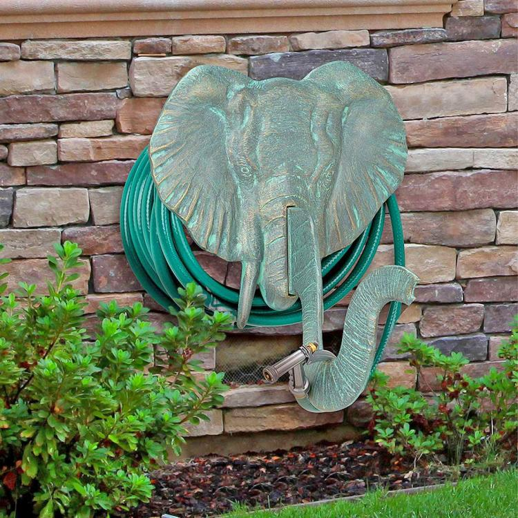 Elephant Head Garden Hose Holder