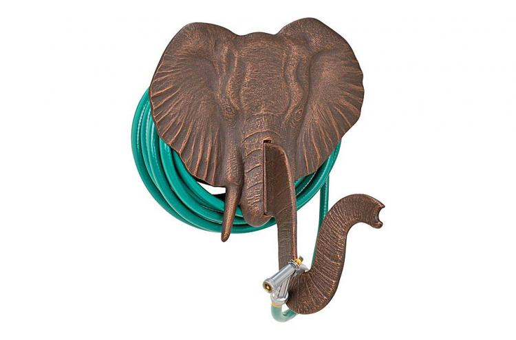 Elephant Head Garden Hose Holder - Elephant trunk hose hider