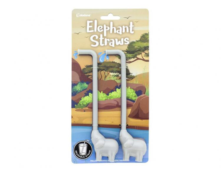Elephant Straws - Reusable elephant trunk straws