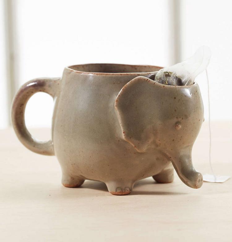 This Cute Elephant Mug Has A Spot For Your Tea Bag After