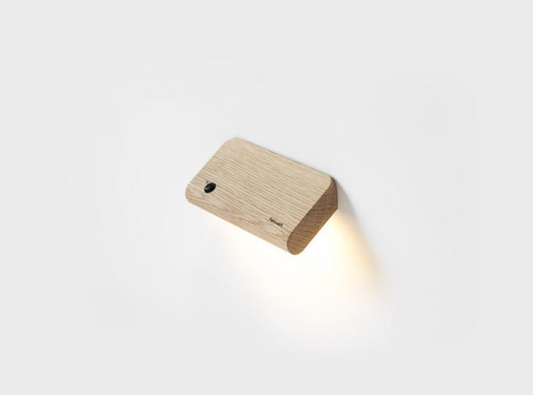 Ellum - Wooden Angled Motion Sensor Wall Lights