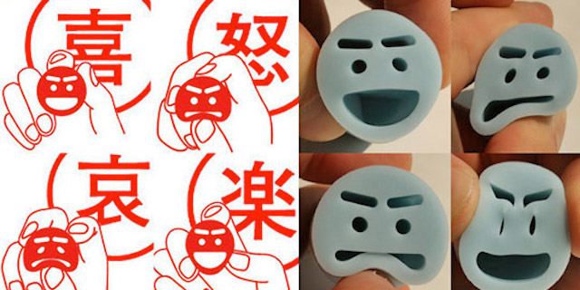 Emotional Rubber Smiley Stamps