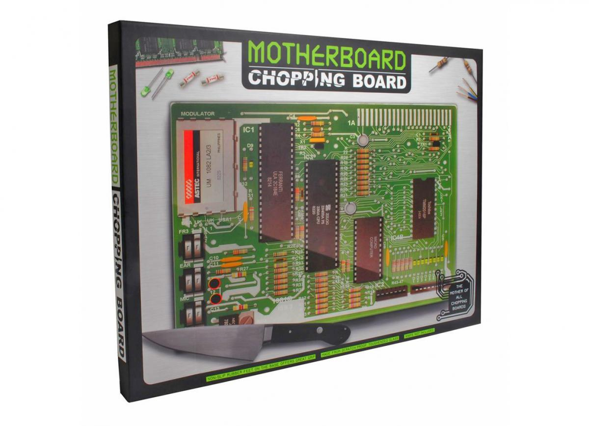 Motherboard Cutting Board - Computer Geek Funny Chopping Board