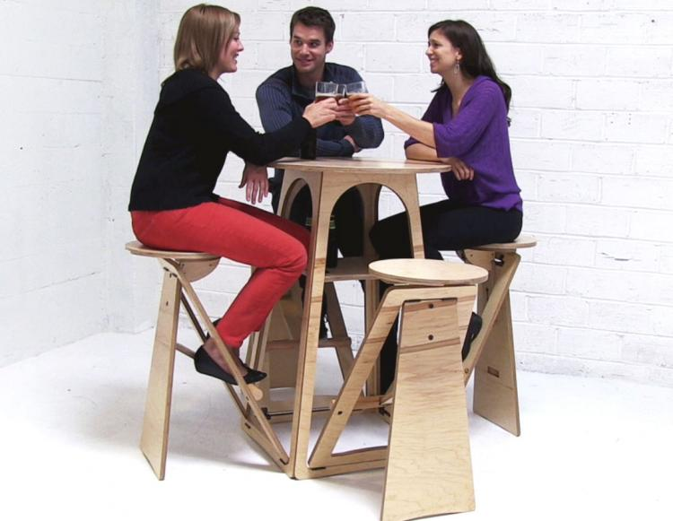 Expandable Quad Micro Bar Table