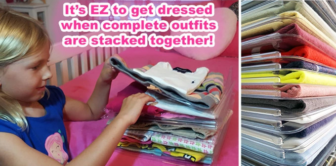 EZSTAX Interlocking Clothing Organizer Dividers - T-shirt clothing dividers