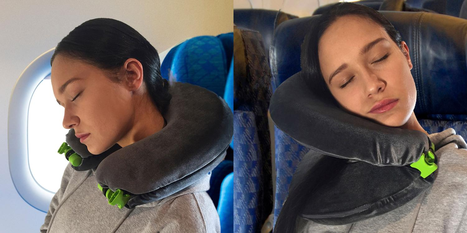 FaceCradle Toilet Seat Shaped Travel Pillow