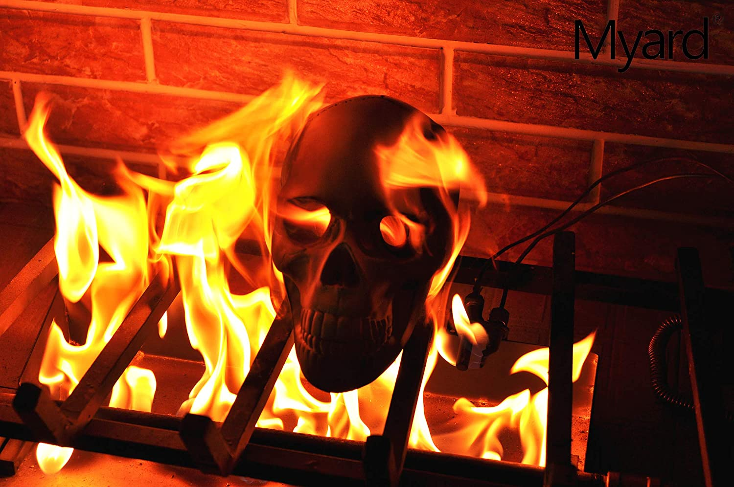 Fake Fireproof Human Skulls For Your Fire-pit - Burning skull bonfire Halloween prop
