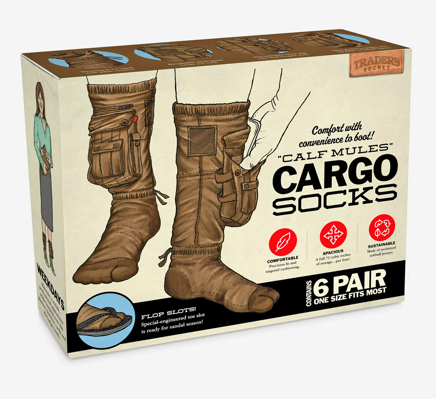 Cargo Socks Are Now A Thing, So You Can Hold Your Phone, Snacks, Or Cash Right in Your Sock Pocket