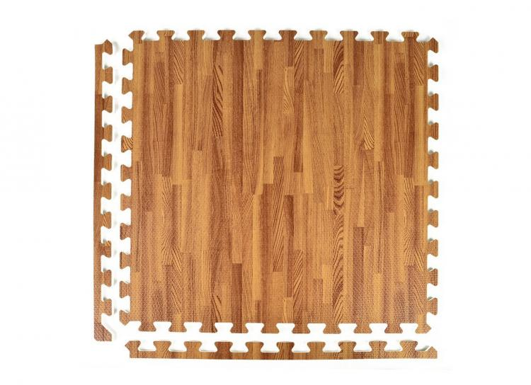 Faux Hardwood Floor Interlocking Foam Tiles 25 Pack
