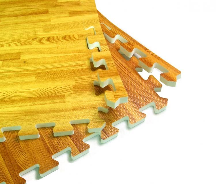 faux hardwood floor interlocking foam tiles hard wood flooring pads - Puzzle Wood Flooring