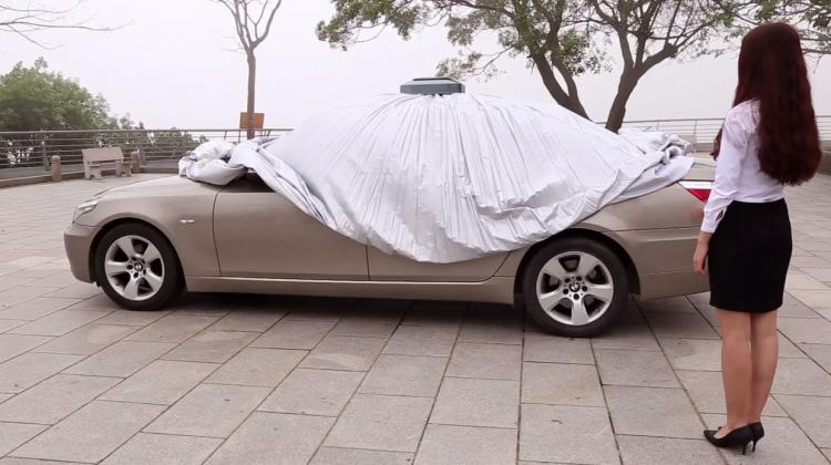 Favo Tech Remote Control Automatic Car Cover - Automatic car tarp protects car from sun and snow