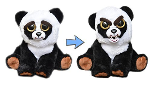 Feisty Pets - Squeeze head to turn from cute to angry - Pissed off stuffed animals - Panda Bear