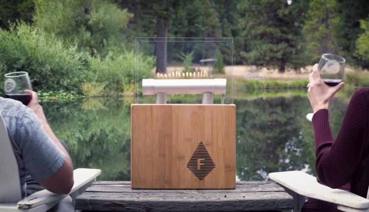 Fireside Audiobox that syncs jumping flames to your music - Dancing fire Bluetooth speaker