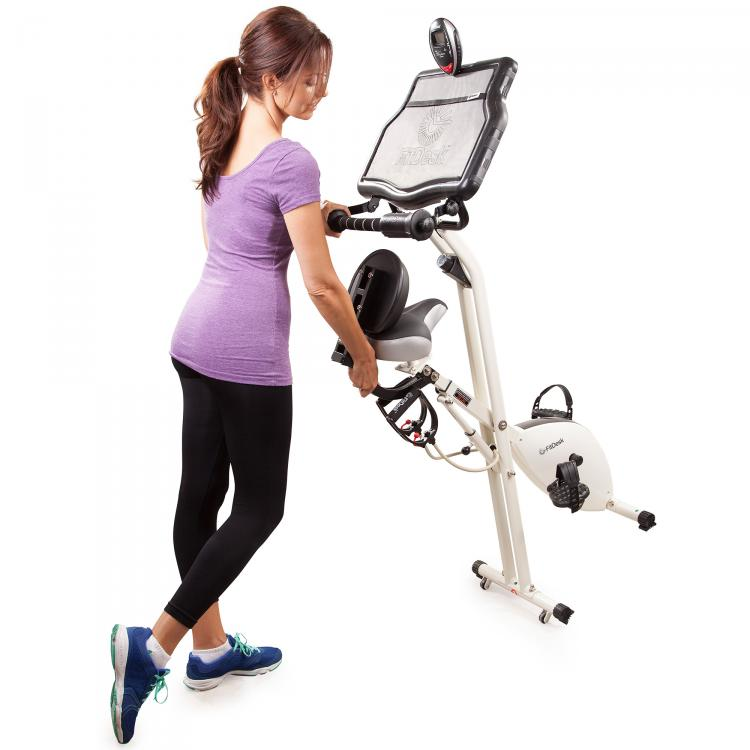 Fit Desk Exercise Bike Work Desk - Laptop Exercise Bike Desk
