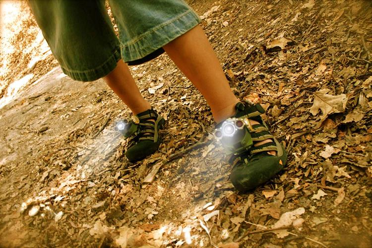 Flashlight Shoes Attachments - LED shoe flashlights