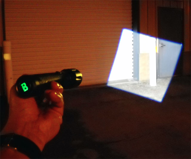 Flashlight With A Square Beam Of Light