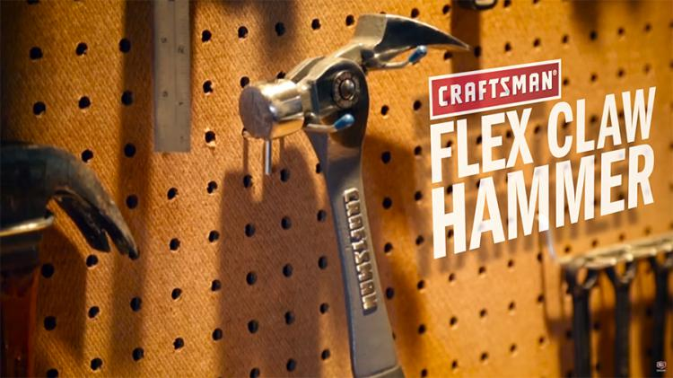 Craftsman Flex Claw Hammer With Adjustable Pry Bar And Magnetic Nail Holder Slot