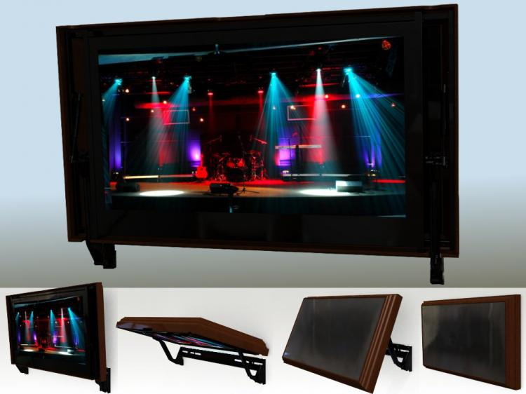 Hidden Vision Flip-around hidden TV mount - Picture frame tv mount - HVTV Spinning TV Mount