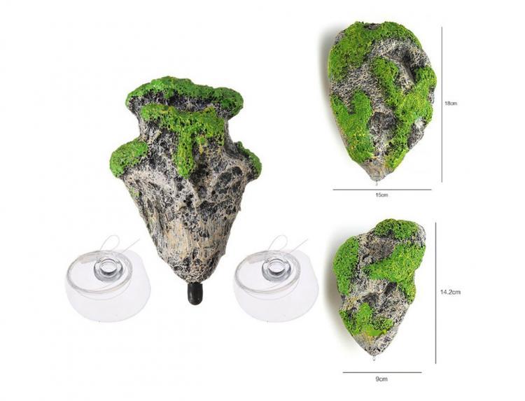 Schwimmende Aquariuminseln - Schwimmende Aquariumfelsen - Avatarinseln für Aquarium
