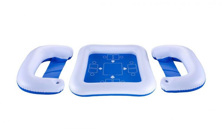 Floating Card Table - Play Poker In The Pool - Swimline Game Station Set with Waterproof Playing Cards